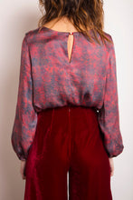 Load image into Gallery viewer, REVERSIBLE Maria Silk Top - Fired Pumice/Burgundy