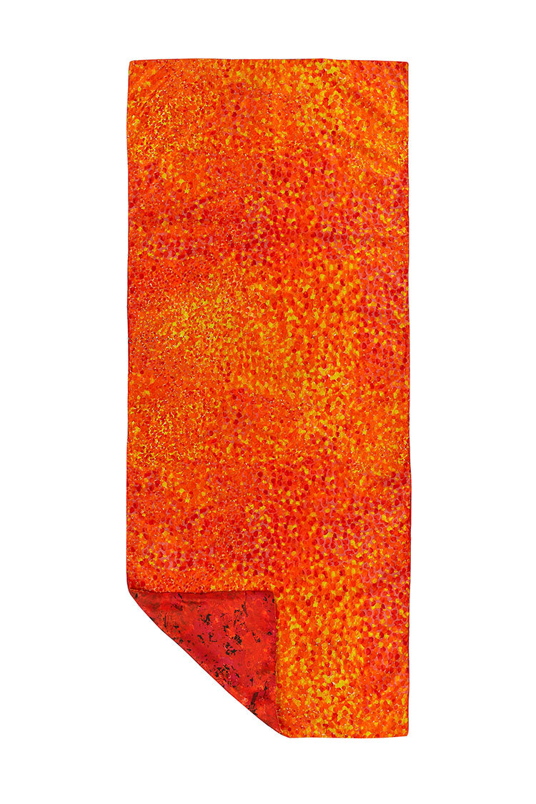 Reversible Sunset Meadow/Pixilated Afterglow Scarf