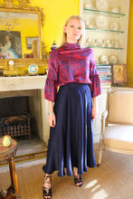 Load image into Gallery viewer, REVERSIBLE Emma Silk Skirt - Fire Ocean/Navy