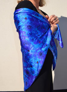 Square Blue Admiral Silk Scarf