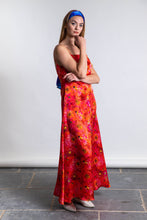 Load image into Gallery viewer, Ellie Silk Satin Dress - Coral Reef
