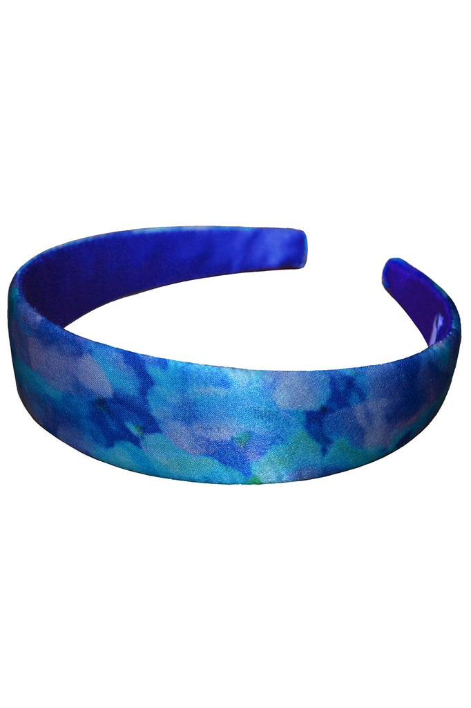 Anarchic Azure Silk Satin Headband