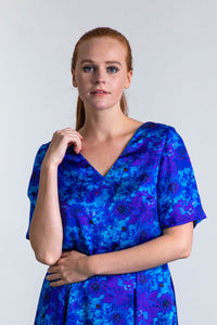 REVERSIBLE Eleanor Top - Blue Admiral/Teal