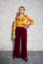 Load image into Gallery viewer, Peggy Velvet Palazzo Pants