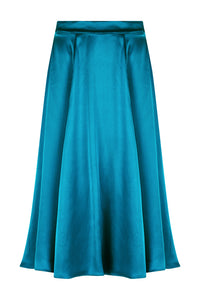 REVERSIBLE Cecilia Skirt - Blue Admiral/Teal