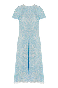 REVERSIBLE Kelly Dress - Forget Me Not/White