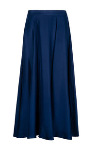 REVERSIBLE Emma Silk Skirt - Fire Ocean/Navy