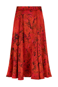 REVERSIBLE Cecilia Skirt - Sunset Meadow/Fuchsia
