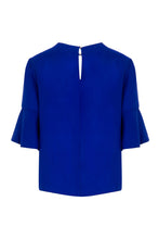 Load image into Gallery viewer, REVERSIBLE Rosie Silk Satin Top - Ocean Water/Cobalt