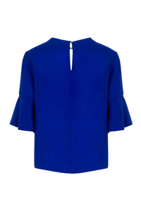 REVERSIBLE Rosie Silk Satin Top - Ocean Water/Cobalt