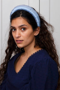 Dusty Blue Satin Padded Headband