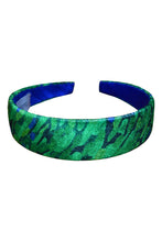 Load image into Gallery viewer, Flecked Emerald Velvet Headband