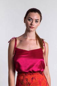 REVERSIBLE Freya Top - Sunset Meadow/Fuchsia