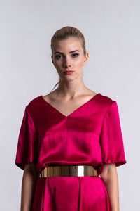 REVERSIBLE Eleanor Top - Sunset Meadow/Fuchsia