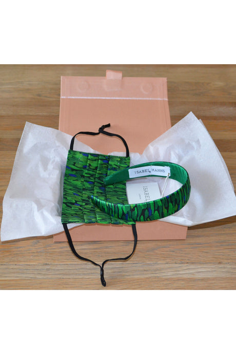 Flecked Emerald Mask & Headband Small Gift Box