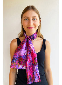 Painter Pink Palette Satin Small Scarf