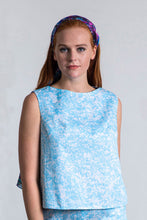 Load image into Gallery viewer, REVERSIBLE Olivia Top - Forget Me Not/White