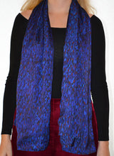 Load image into Gallery viewer, Flecked Sapphire Scarf