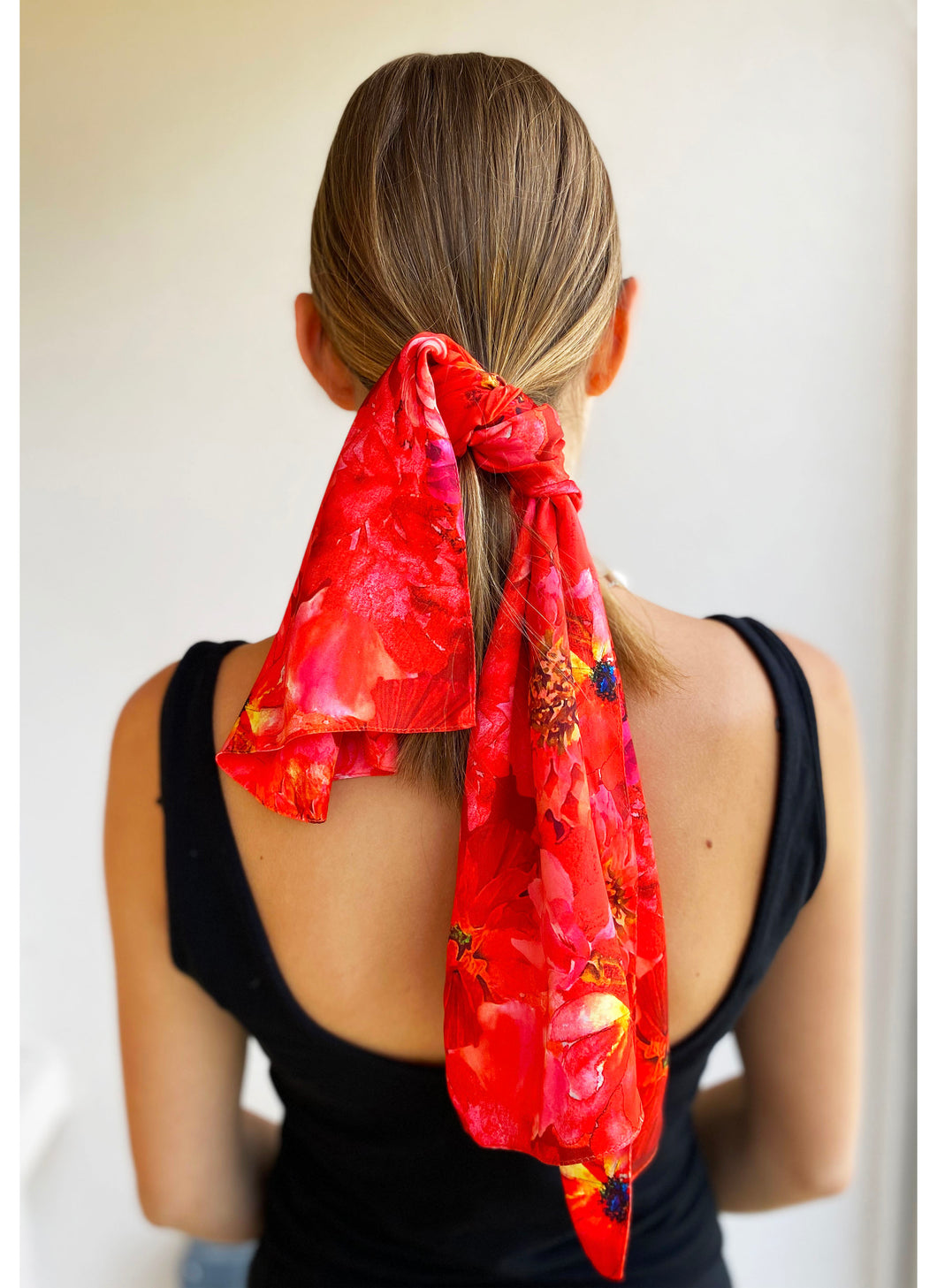 Coral Reef Satin Small Rectangle Scarf
