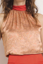 Load image into Gallery viewer, REVERSIBLE Sophie Silk Top - Sandstone Montage/Terracotta