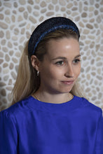 Load image into Gallery viewer, Midnight Shimmer Velvet Padded Headband