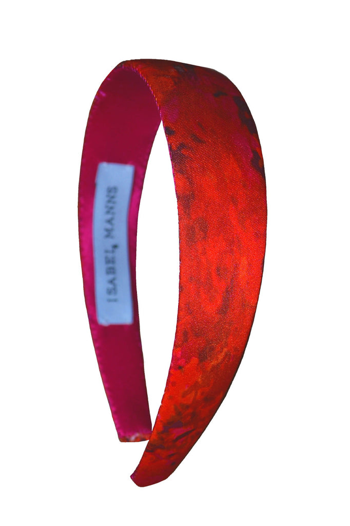 Sunset Meadow Satin Headband