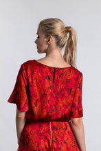 Load image into Gallery viewer, REVERSIBLE Eleanor Top - Sunset Meadow/Fuchsia