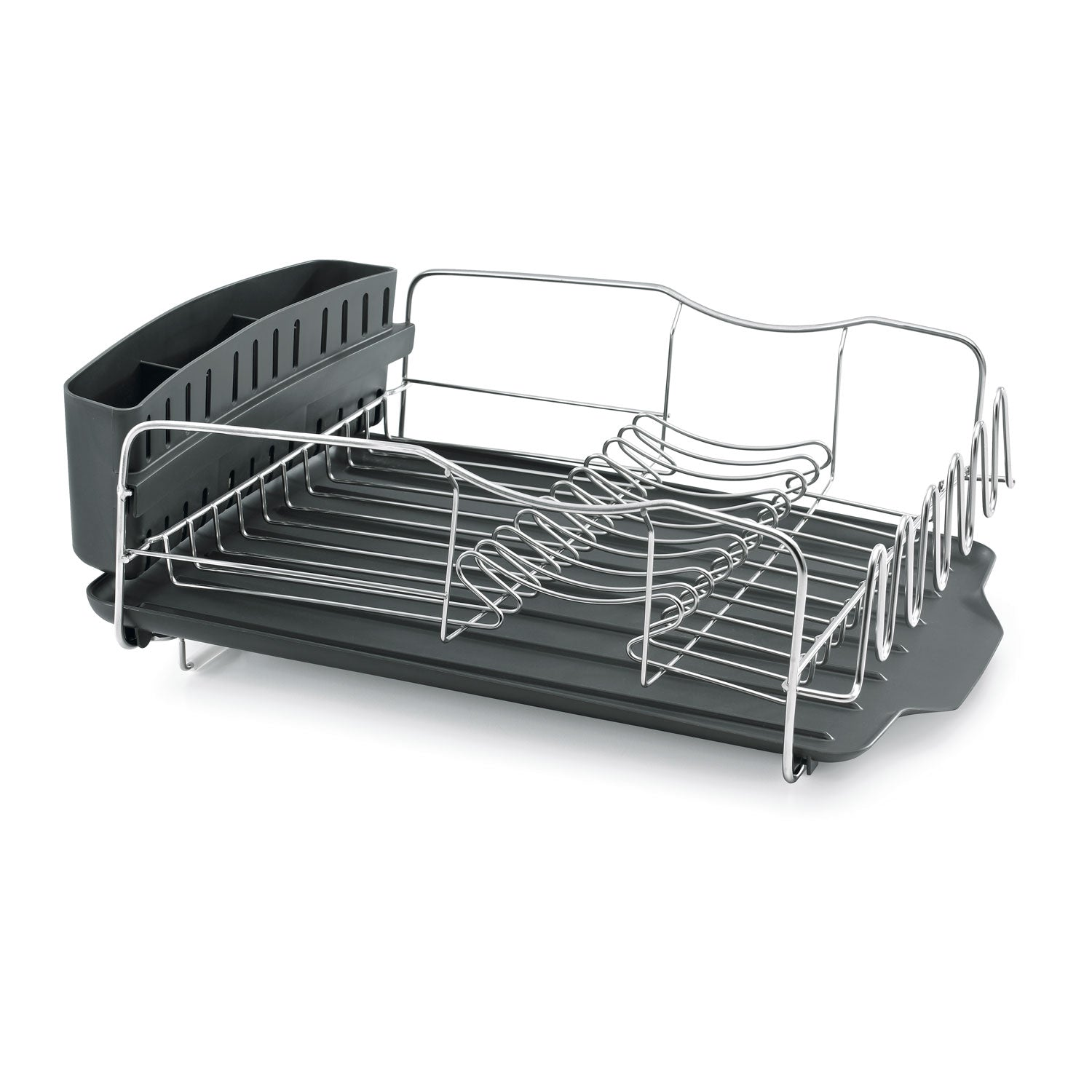 Advantage Dish Rack Drain Tray-Gray zoomed
