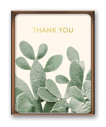 Boxed Thank You Cards - Cactus