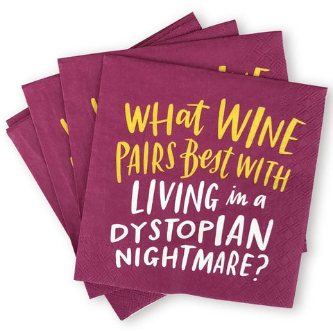 Dystopian Nightmare Cocktail Napkins