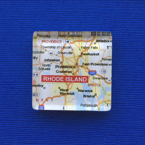 RI Map Magnet