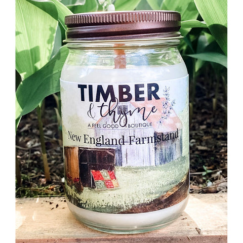 Timber & Thyme 16 oz. Candle - NE Farmstand