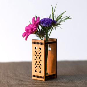 Wooden Bud Vase - Celtic