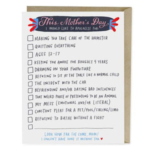 Mother's Day - Checklist