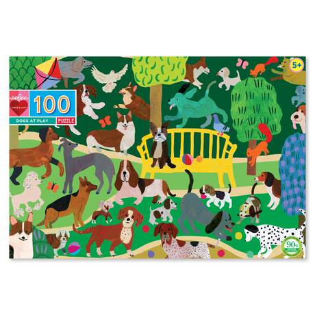 100 piece puzzle - Dogs at Play