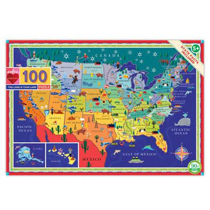 100 piece puzzle - This Land is Your Land