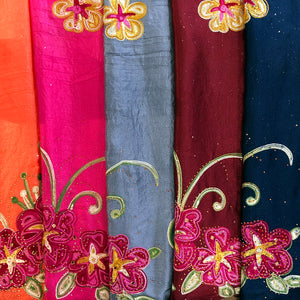 Scarf - Embroidered