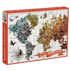 1000 piece puzzle - Butterfly Migration