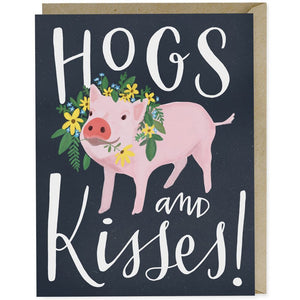 Card - Hogs & Kisses