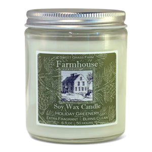 Candle Jar - Holiday Greenery
