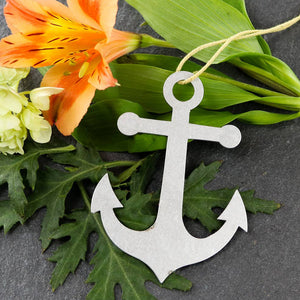 Aluminum Anchor Ornament