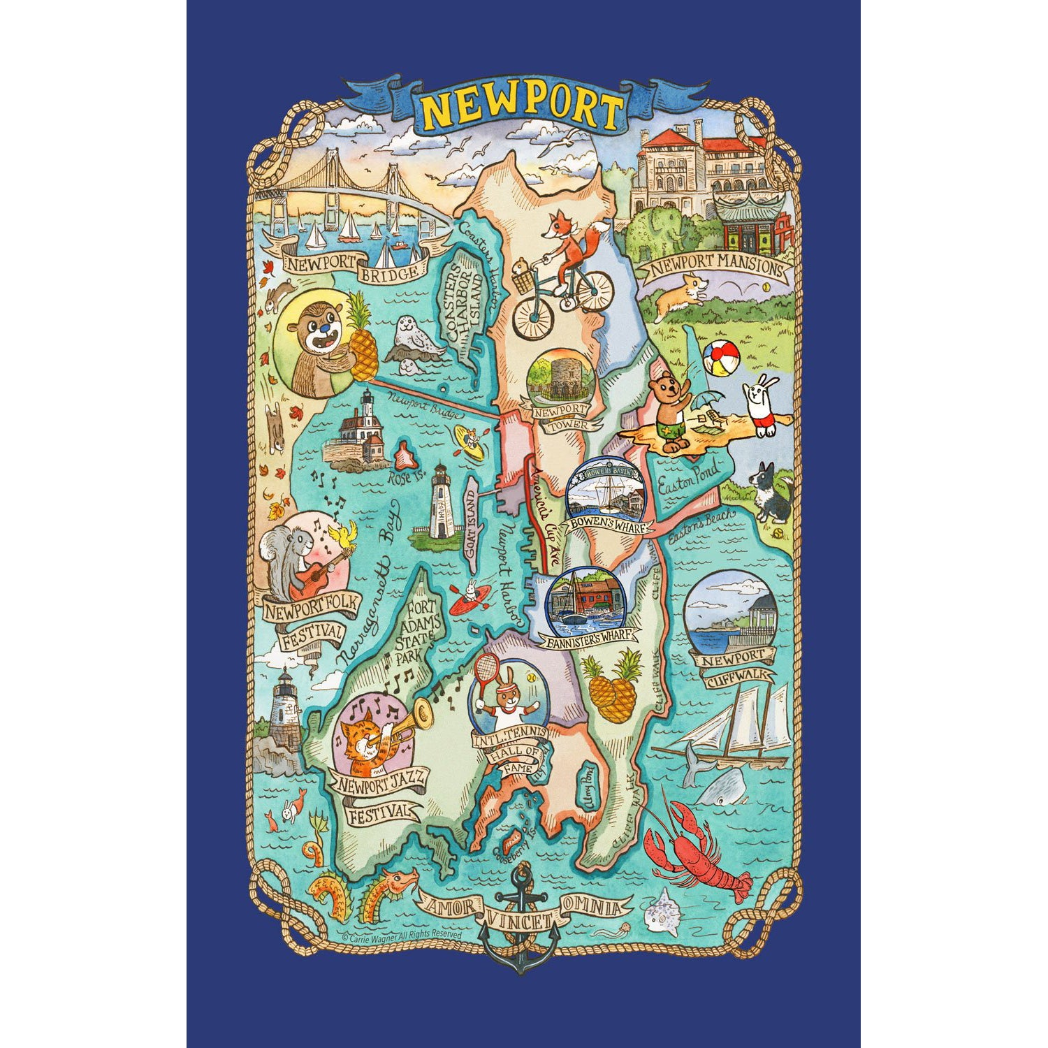 Newport Tea Towel