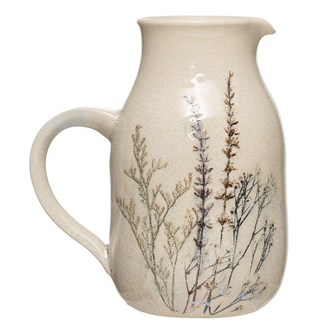 Pitcher - Pressed Flowers