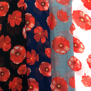 Scarf - Poppies Large Flower