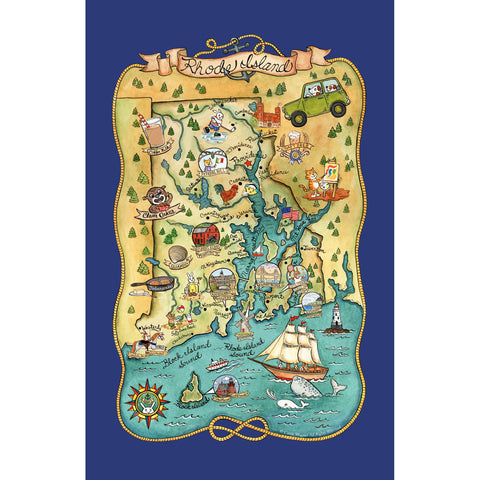 Rhode Island Tea Towel