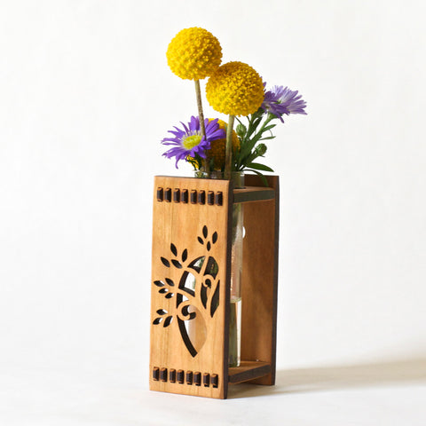 Wooden Bud Vase - Tree