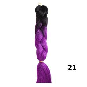 Kanekalon Synthetic Multi-Color Hair 24 inches