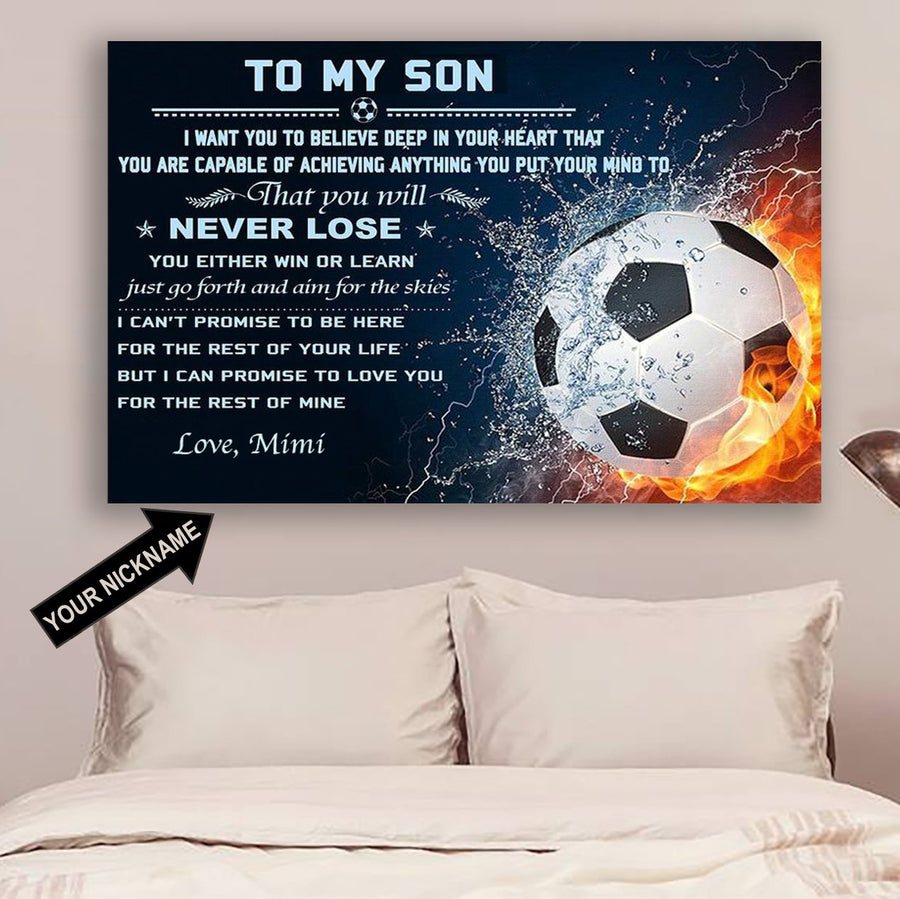 b2612c93 (CT216) Football Poster - to my son - custom