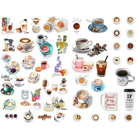 Coffee Stickers (A)