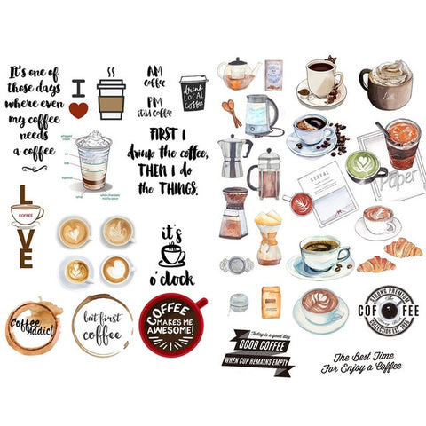 Coffee Stickers (B)